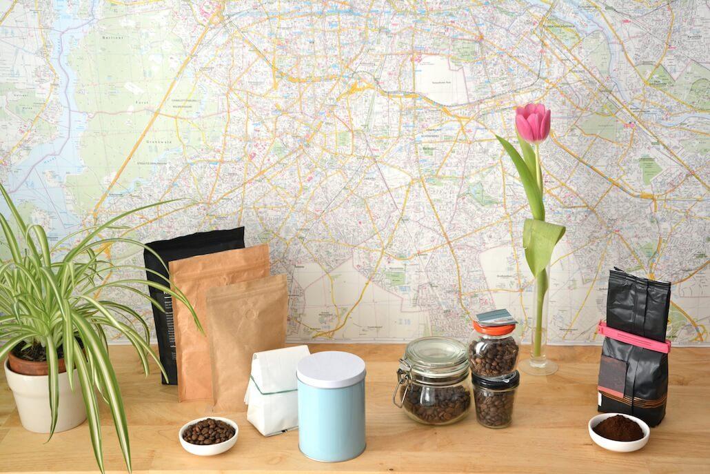 Paquetes con válvula unidireccional para dejar salir el gas del café recién tostado, frascos herméticos que protegen el café del aire y café molido, guardado comprimido y hermético.